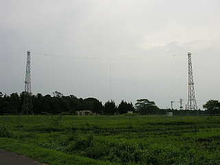 鹿屋 海自無線アンテナ