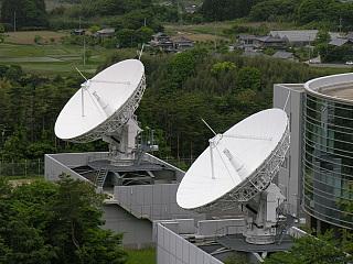 常陸太田航空衛星センター 13m×2