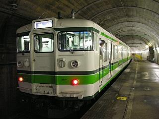 湯檜曽駅にて