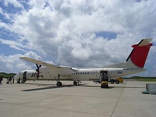 種子島空港にて(JA847C)