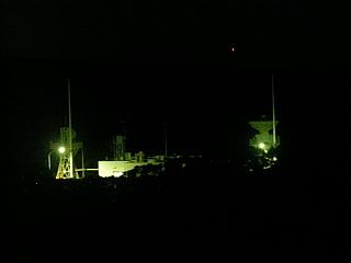 夜の宇宙ヶ丘追跡所