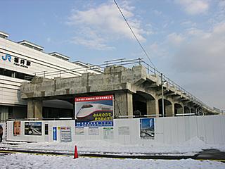 福井駅 北陸新幹線工事現場