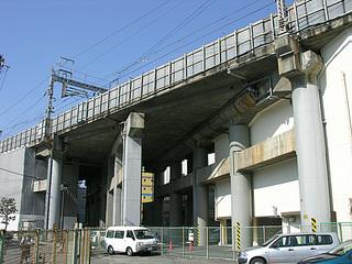 新大阪駅京都方 立体交差予定構造