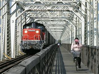 城東貨物線淀川橋梁 (a.k.a. 赤川鉄橋)