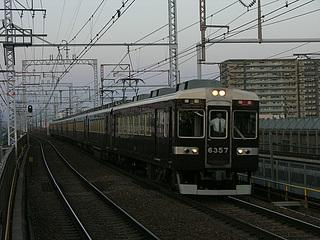 6300系特急@水無瀬駅