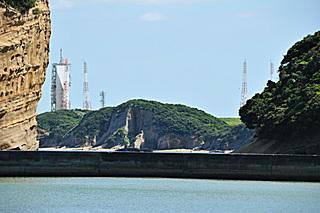 広田遺跡傍から見た吉信射点