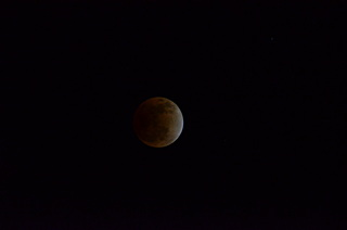 竹崎から見た皆既月蝕